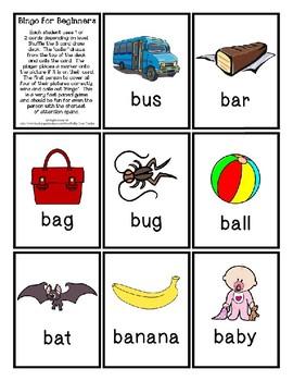 Bingo for Beginners ~ Preschool ~ Focus Letter B Sound