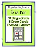 Bingo for Beginners ~ Preschool ~ Focus Letter B Sound