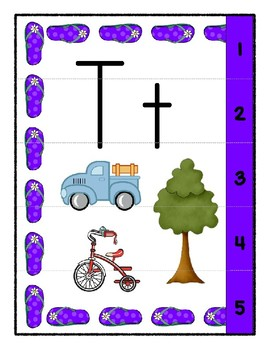 Teaching by the Letter - Flip Flops theme for Letter T