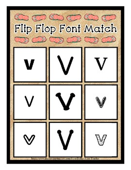 Teaching by the Letter - Flip Flops theme for Letter V