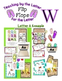 Teaching by the Letter - Flip Flops theme for Letter W