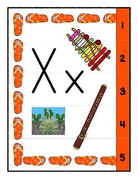 Teaching by the Letter - Flip Flops theme for Letter X
