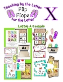 Teaching by the Letter - Flip Flops theme for Letter X