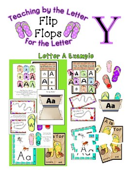 Teaching by the Letter - Flip Flops theme for Letter Y