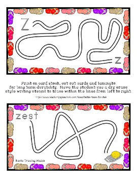 Teaching by the Letter - Flip Flops theme for Letter Z