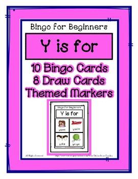 Bingo for beginners preschool focus letter y sound by dollar bingo for beginners preschool focus letter y sound spiritdancerdesigns Image collections
