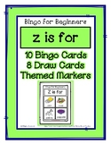 Bingo for Beginners ~ Preschool ~ Focus Letter Z Sound