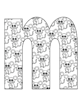 Alphabet Coloring Pages for the Letter M ~  Beginning Sound ~ Reading Writing
