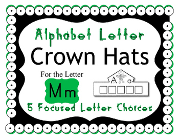 Beginning Alphabet Sound Crown Hat Set for the letter M