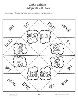 Cootie Catchers Multiplication