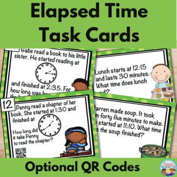 Elapsed Time Task Cards With Optional QR Codes