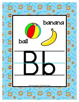 { Flash Freebie } Super Hero Alphabet Letter Poster Cards