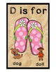 Teaching by the Letter - Flip Flops theme - Focus Letter D