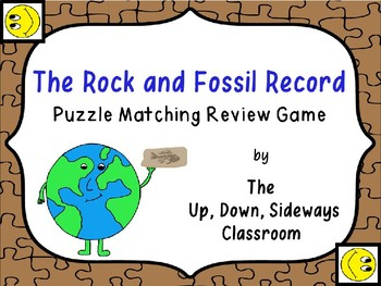 The Rock and Fossil Record Puzzle Matching Vocabulary Review Game