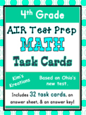 4th grade AIR Math Test Prep (Ohio) Task Cards