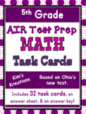 5th grade AIR Math Test Prep (Ohio) Task Cards