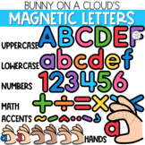 Magnetic Letters and Numbers by Bunny On A Cloud