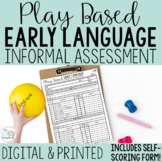 Play-Based Early Language Informal Assessment for Speech Therapy