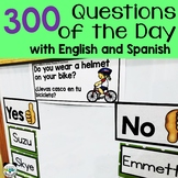 Question of the Day for Preschool and Kindergarten with Spanish