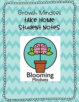 Growth Mindset Take Home Notes