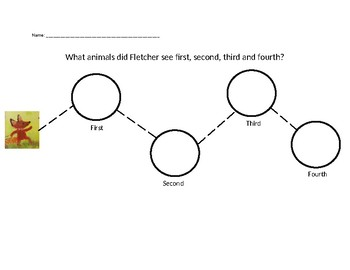 """""""Fletcher and the Falling Leaves"""" sequencing activity"""
