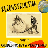 'Flip' It! : Guided Notes & Video Links for Reconstruction Unit