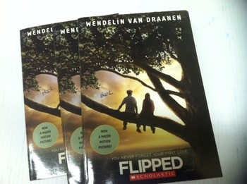 """Flipped"" books, by Wendelin Van Draamen - Literature Circle Set"