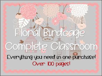 Classroom Decor - Floral Birdcage