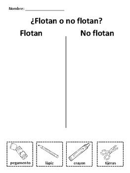 ¿Flotan o no flotan? School Supplies Activities for Early Elementary