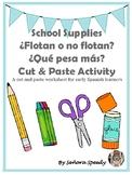 ¿Flotan o no flotan? School Supplies Activities for Early