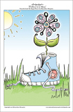 'Flower in a Shoe' - Printable A4 Colouring Page