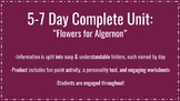 """""""Flowers for Algernon"""" 5 Day Complete Unit"""