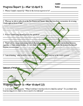 """Flowers for Algernon"" Pre-read activity, Vocab, Comp Questions and Test!"