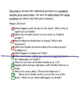 """Flowers for Algernon"" Study Guide"