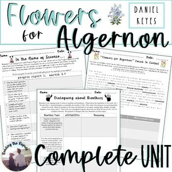 """""""Flowers for Algernon"""" FULL Unit Lesson Plans"""