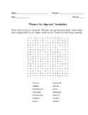 """Flowers for Algernon"" Vocabulary Word Search Words Only (Daniel Keyes)"