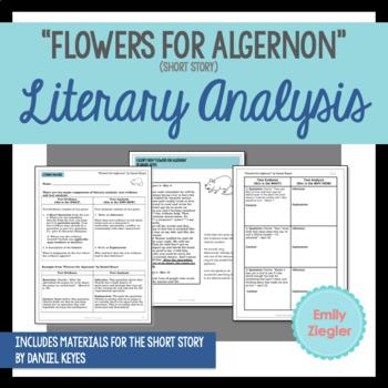 """Flowers for Algernon"" Short Story Literary Analysis Graphic Organizers"