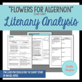 """Flowers for Algernon"" Short Story Literary Analysis Graphic Organizers"