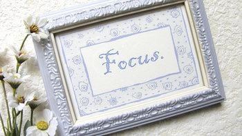 """Focus"" framed print"