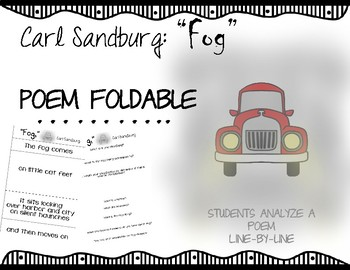 """Fog"" by Carl Sandburg Poem Analysis: Line-by-line booklet"