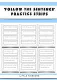 'Follow the Sentence' Practice Strips