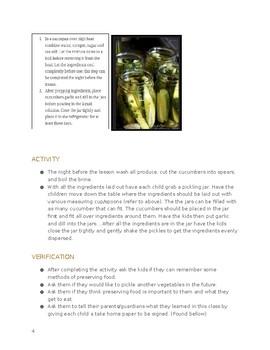 """Food Preservation"" Pickling Activity"