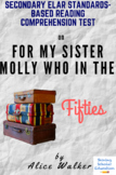 """""""For My Sister Molly Who in the Fifties"""" by Alice Walker Poetry Reading Test"""