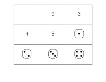 """Four In A Row"" Number Recognition and Subitizing Game"