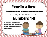 """""""Four In A Row"""" Number Recognition and Subitizing Game"""