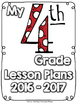 (Fourth Grade) Grade and Subject Lesson Plan Dividers
