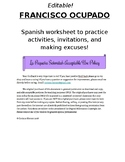 """Francisco Ocupado"" Spanish Activities Practice"
