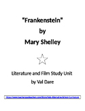 """""""Frankenstein"""" by Mary Shelley. Literature and Film Study (2016)"""