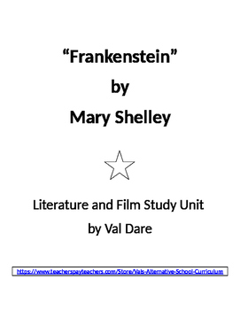 """Frankenstein"" by Mary Shelley. Literature and Film Study (2016)"