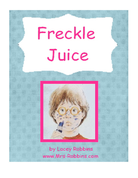 """Freckle Juice"" Book Club Activity (2nd Grade)"